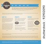 retro vintage grunge web page... | Shutterstock .eps vector #92902090