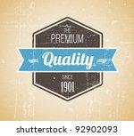 old dark retro vintage grunge... | Shutterstock .eps vector #92902093
