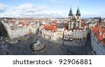 prague  old town square.... | Shutterstock . vector #92906881