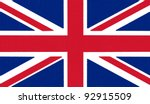 england flag drawing by pastel... | Shutterstock . vector #92915509