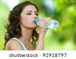 portrait of young beautiful...   Shutterstock . vector #92918797