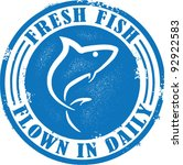 fresh fish flown in daily | Shutterstock .eps vector #92922583