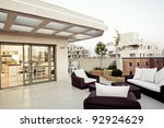 balcony interior design | Shutterstock . vector #92924629