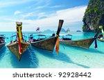 clear water and blue sky. krabi ... | Shutterstock . vector #92928442