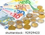 Euro Cash. Coins And Banknotes...
