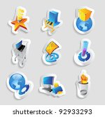 icons for industry  energy and... | Shutterstock .eps vector #92933293