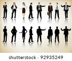 collection of business people... | Shutterstock .eps vector #92935249