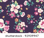 seamless spring cute vintage... | Shutterstock .eps vector #92939947