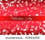 valentine s day | Shutterstock . vector #92941054
