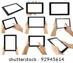 tablet computer isolated in a... | Shutterstock . vector #92945614