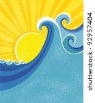 Sea Waves Poster. Vector...