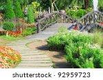 A Stone Walkway In Garden