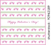 valentines day background or...   Shutterstock .eps vector #92962189