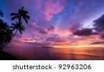 Amazing Sunset In Hawaii