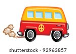 Hippy Van - stock vector