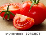 red fresh tomatoes - stock photo