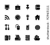 computer icon set | Shutterstock .eps vector #92965111