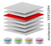 multi layers. illustration of... | Shutterstock .eps vector #92971594