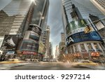 the times square in new york... | Shutterstock . vector #9297214