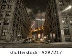 manhattan bridge view from...   Shutterstock . vector #9297217