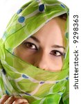 portrait of veiled woman with...   Shutterstock . vector #9298363