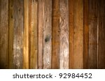 texture of old plank wood wall... | Shutterstock . vector #92984452
