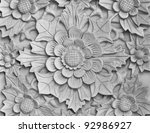 balinese style carved stone   Shutterstock . vector #92986927