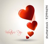 beautiful valentine day heart... | Shutterstock .eps vector #92994694