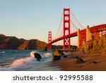 golden gate bridge in san... | Shutterstock . vector #92995588