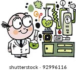 Vector Cartoon Of Scientist In...