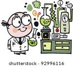 vector cartoon of scientist in...