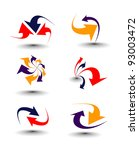 colored arrow symbol   Shutterstock .eps vector #93003472