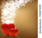 vintage valentine background... | Shutterstock . vector #93007459