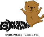 Illustration Of A Groundhog...
