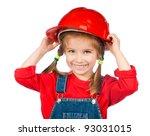 beautiful little girl in the... | Shutterstock . vector #93031015