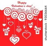 valentine's day card design.... | Shutterstock . vector #93036664