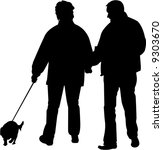 vector image of people and dog | Shutterstock .eps vector #9303670