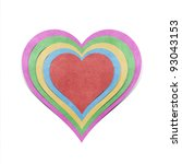 heart  recycled papercraft on... | Shutterstock . vector #93043153