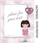 valentine's day postcard | Shutterstock .eps vector #93046294