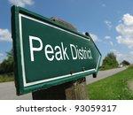 Peak District Signpost Along A...