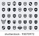 set of 35 shield icons with... | Shutterstock .eps vector #93070972