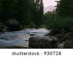 merced river at dusk  yosemite...   Shutterstock . vector #930728