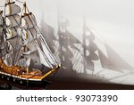 Model Of The Wooden Ship With...