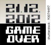 2012 date of apocalypse  game... | Shutterstock .eps vector #93074497