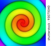 Abstract background of vibrant rainbow spiral swirl - stock photo