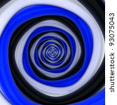 Square vortex of black, white, blue colors - stock photo