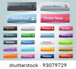 web elements vector button set | Shutterstock .eps vector #93079729