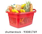many food and drinks in... | Shutterstock . vector #93081769