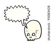 graffiti style skull cartoon | Shutterstock .eps vector #93083428