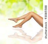 healthy sexy slender female... | Shutterstock . vector #93085588